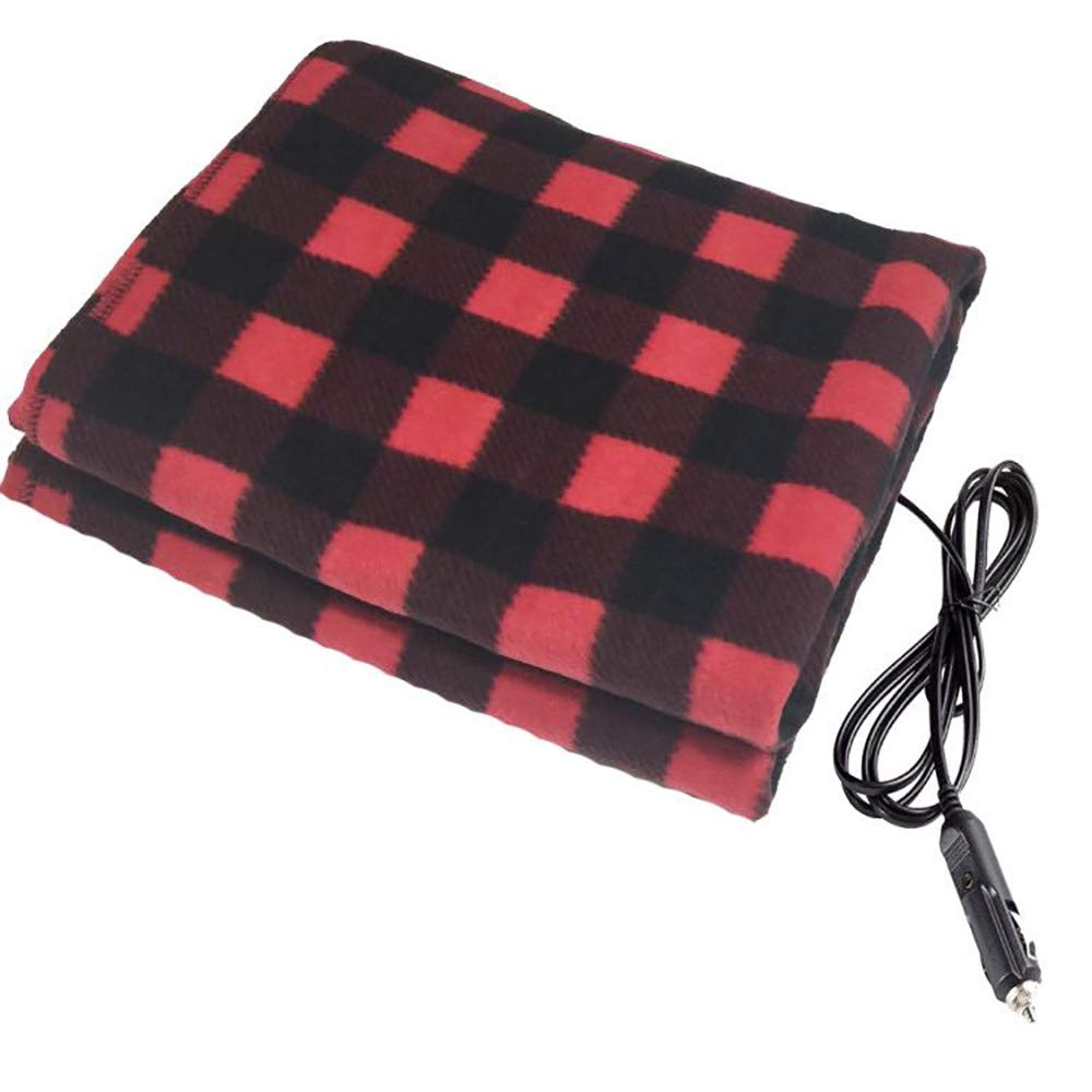 Car Electric Heated Blanket - 12V Auto Truck Fleece Heating Pad Winter Warm Blanket Body Knee Cover LBAFS
