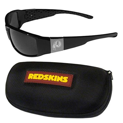 NFL Washington Redskins Chrome Wrap Sunglasses & Zippered Carrying Case (Redskins Washington Sunglasses)