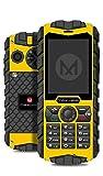 Rugged Cell Phone Unlocked 2G GSM Waterproof Shockproof Maxwest Ranger Flashlight Military Grade IP68 Certified (Yellow)