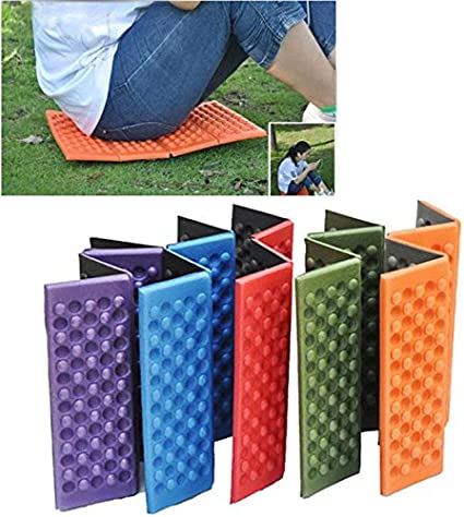 Porfiya Foldable Folding Outdoor Camping Mat Seat Foam XPE Cushion Portable Waterproof Chair Picnic Mat Pad 5 Colors Send in Random