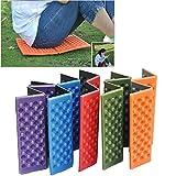 Porfiya Foldable Folding Outdoor Camping Mat Seat Foam XPE Cushion Portable Waterproof Chair Picnic Mat Pad 5 Colors Send in Random (2Pcs)
