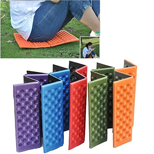 - Porfiya Foldable Folding Outdoor Camping Mat Seat Foam XPE Cushion Portable Waterproof Chair Picnic Mat Pad 5 Colors Send in Random (2Pcs)