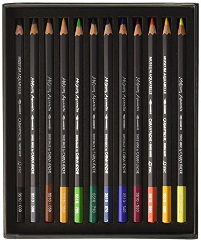 Caran D'ache Museum Aquarelle Pencil Sets Museum Intro set of 12 colours (3510.312) Photo #3
