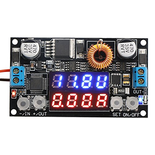DROK 180051US Numerical Control Voltage Regulator DC 5-32V to 0-30V 5A Buck Converter, 24V 12V to 5V Step Down Power Converter Adjustable Digital Control Voltage Reducer ()