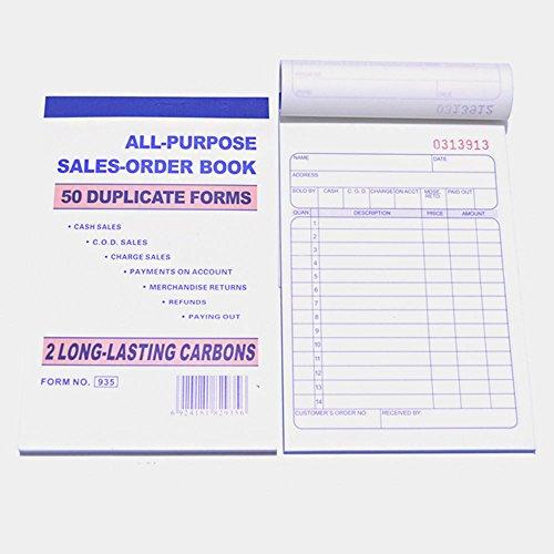 8 Pack Lot Sales Book Order Receipt Invoice Carbonless Copy 50 Sets 4.25
