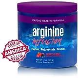L-Arginine Infusion Cardio Health 5,000mg L-arginine, 1,000mg L-citrulline, CoQ10, & AstraGin net wt. 11 oz (309 g)