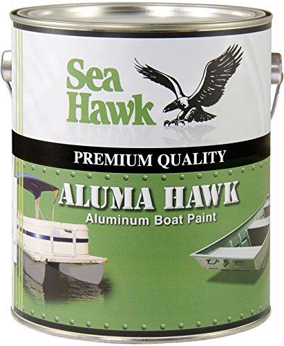 Aluma Hawk Aluminum Boat Paint by Sea Hawk Paints (Jon Boat Green, Quart)