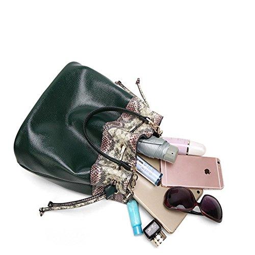 Crossbody materiale Tote Viaggi grande donne borsa a modello elaborazione litchi borsa Ofic di spalla della capienza Borsa dell'unità di cosmetico bag Messenger del verde del del wn0E4zIx