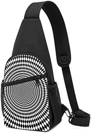 ブラックの迷宮 斜め掛け ボディ肩掛け ショルダーバッグ ワンショルダーバッグ メンズ 多機能レジャーバックパック 軽量 大容量