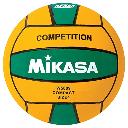 Ncaa Water Polo - Mikasa W5009GRE Competition Game Ball, Green/Yellow, Size 4