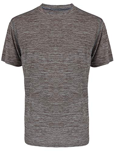 Men' s Short Sleeve Crew Neck Solid Soft Dry Fit Performance T-Shirt - Polyester S/s Shirt