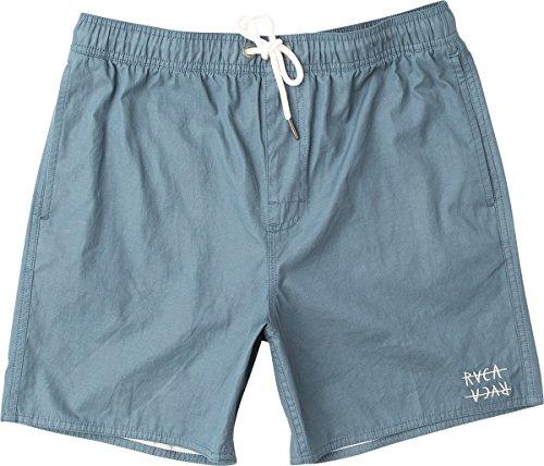 RVCA Men's Horton Elastic Short, Blue Slate, M