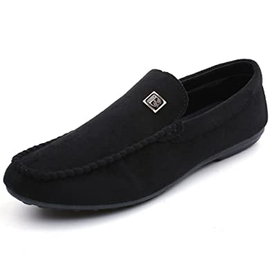 Men's Shoes PU Spring Fall Comfort Loafers & Slip-Ons Walking Shoes For Casual White Black