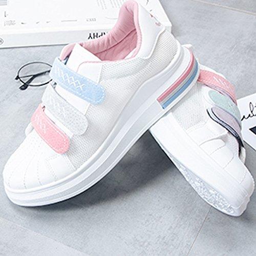 da Pink cave scarpe basse tavola Size uomo selvaggia YaNanHome stile estate scarpe 37 stile Scarpe da filato Nuove coreano Color Espadrillas Purple agwxZ0q1