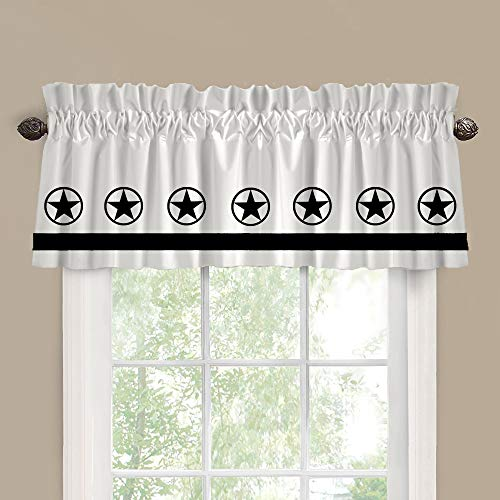 Texas Star Window Valance Treatment – In Your Choice of School Colors – Custom Made