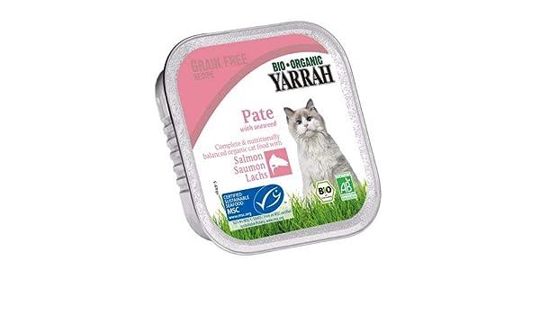 Yarrah | Alimento para Gatos – Paté con salmón y Algas Marinas | 4 ...