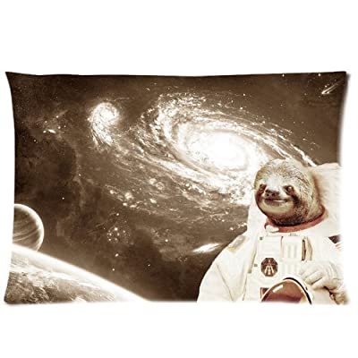 Sloth Astronaut Rectangle Pillowcase Pillow Case Covers 16X24 (One Side) - Aaco Shop