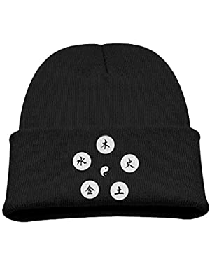Yin Yang Five Elements Kid Beanie Warm Knitted Hat