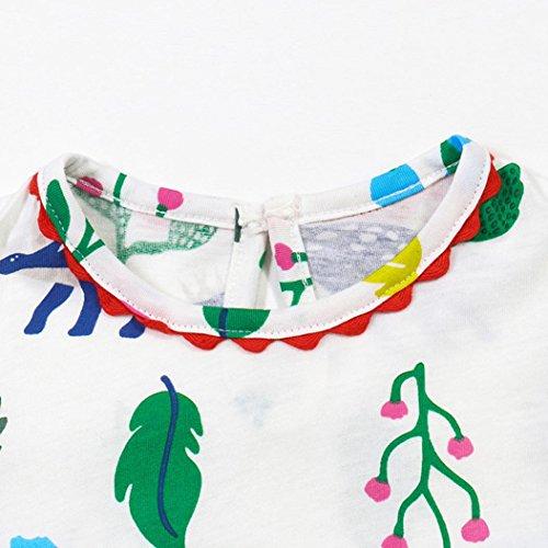 Amlaiworld Baby Mädchen blumen Blätter drucken kleider kinder mode Niedlich shirt kleidung,1-6 Jahren Grün