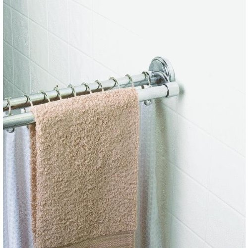 Zenna Home 36602SS, NeverRust Aluminum Double Tension Shower Curtain Rod,  44 To 72 Inch, Chrome