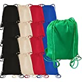 100 PACK - Multipurpose Non Woven Well Made Drawstring Backpack Bags BULK - Giveaway Church Bags School Bags Event Tradeshow bags Charity Donation Wholesale Cheap Drawstring Backpacks (Mix-Assorted)