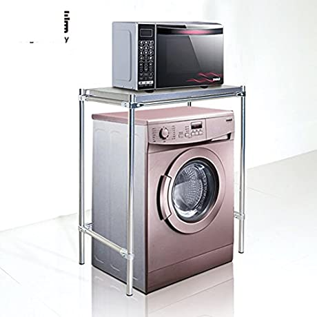 Stainless Steel Washing Rack Bathroom Storage Rack Landing A Microwave And Partition Alignment Jig Layer Shelf Racks H