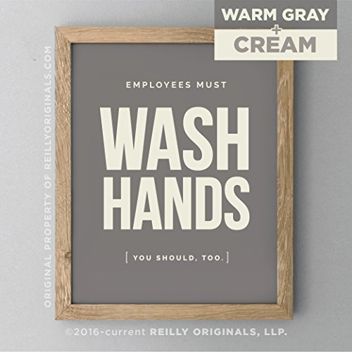wash hands Bathroom Sign Decor Farmhouse Rustic Home Wall Art Wash Your Hands Don't Be Gross Cottage Cabin Country Restaurant Hotel Office Home ()