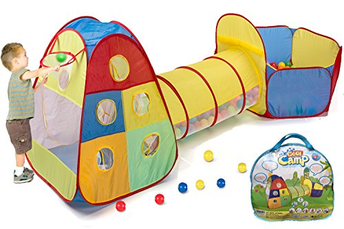 3 in 1 Playhut Indoor u0026 Outdoor Play Tent Tunnel Kids Boys Girls Ball Pit Pop Up  sc 1 st  eBay & 3 in 1 Playhut Indoor u0026 Outdoor Play Tent Tunnel Kids Boys Girls ...