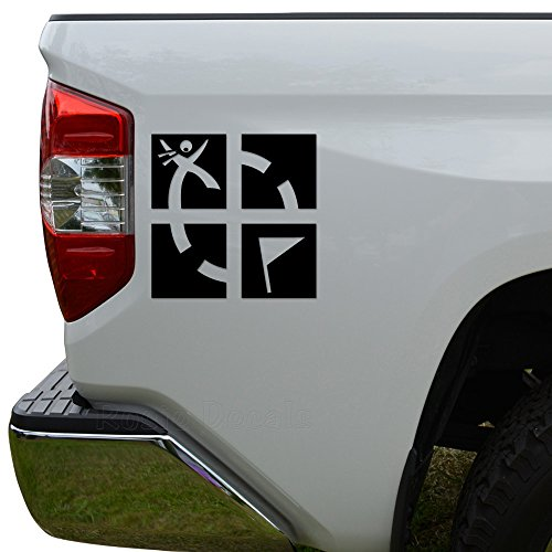 Rosie Decals Geocaching Game GPS Die Cut Vinyl Decal Sticker For Car Truck Motorcycle Window Bumper Wall Decor Size- [6 inch/15 cm] Tall Color- Matte White