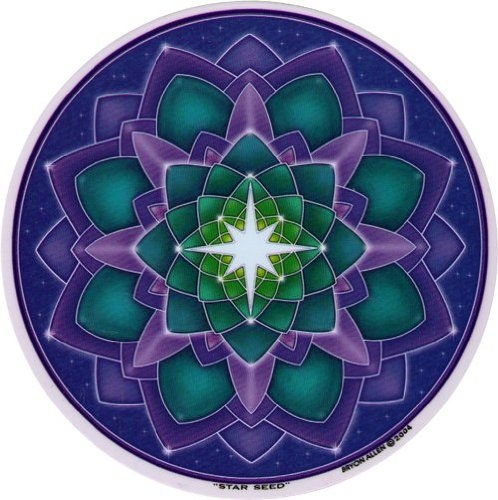 "Star Seed Decal Circular 4.5/"" Translucent Mandala Arts Spiritual Window Sticker"