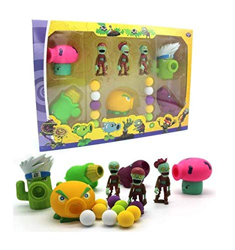 Plants vs Zombies Package Set: 5 Plants 3 Zombies 10 foam balls (Style 2)]()
