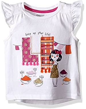 Baby Girls' Short Sleeve Flutter Graphic Tee