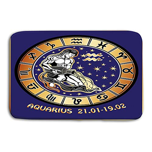 Monkey Drapery Fabric - Non-Slip Doormat Non-woven Fabric Floor Mat Indoor Entrance Rug Decor Mat 23.6(L) x 15.7(W) aquarius zodiac horoscope circle long haired male sits pouring water out vase dressed drapery behind him