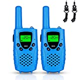 FAYOGOO Walkie Talkies for Kids, 22-Channel FRS/GMRS Radio, 4-Mile Range Two Way Radios for Kids with Flashlight and LCD Screen (Blue)