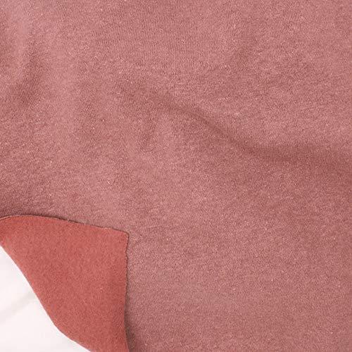 Telio Eco Organic Cotton Hemp Fleece Fabric, Rose, Fabric By The Yard