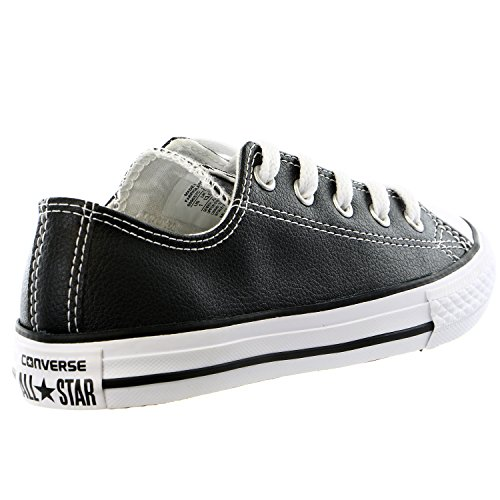 Converse Kids Chuck Taylor All Star Sneaker In Pelle Moda Bue - Nero / Bianco - 5