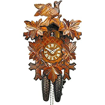 Home Home Dcor Brown Carved with 8-Day Weight Driven Movement ...