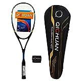 QICHUAN Full Graphite Squash Racquet 125g Overgrip Bag