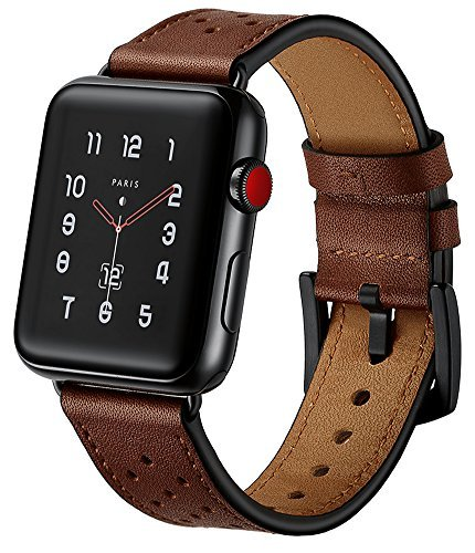 cheap for discount 8607f f9a98 OCYCLONE Compatible with Apple Watch 42mm/44MM Band, Soft Classic Genuine  Leather Strap Replacement Bands Compatible for iWatch Apple Watch Series 3,  ...