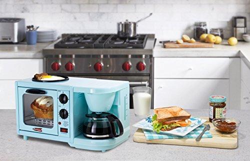 Elite Cuisine EBK-200BL Maxi-Matic 3-in-1 Multifunction Breakfast Center, Blue