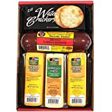 WISCONSIN'S BEST and WISCONSIN CHEESE COMPANY |100% Wisconsin Cheddar Cheese and Pepper Jack Cheese | Summer Sausage | Cheese and Crackers | Gift Basket | Birthday Gift to Send | Amazon Prime