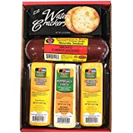 WISCONSIN'S BEST and WISCONSIN CHEESE COMPANY |100% Wisconsin Cheddar Cheese and Pepper Jack Cheese | Naturally Smoked Summer Sausage | Crackers | Gift Basket | Perfect Birthday Gift | Amazon Grocery
