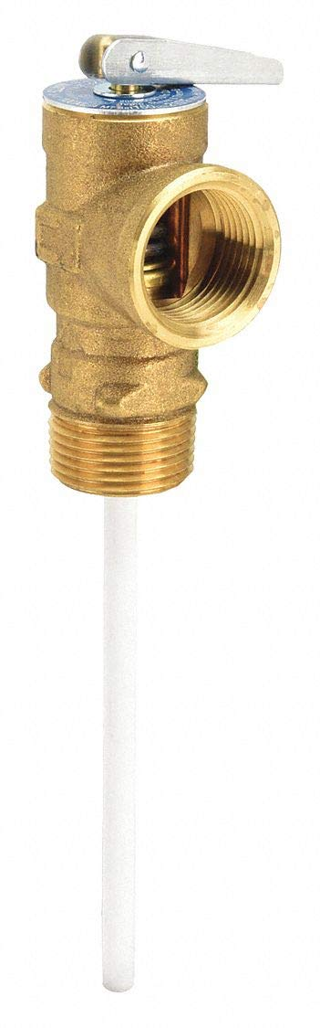 "Watts 100XL-4 Temperature and Pressure Relief Valve, 3/4"" Size"