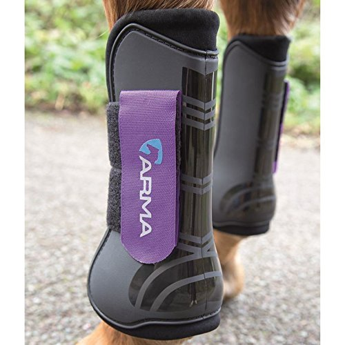 ARMA Open-Front Boots (Black/Purple, Horse)