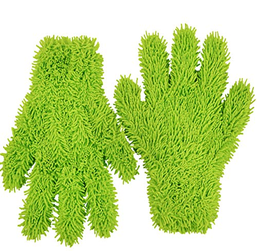 Microfiber Cleaning Glove for Kitchen and Home by Scrub-it - Dish, Furniture and Window Cleaner - Cuts Through Dirt Without Using Harmful Chemicals - Perfect for Stainless Steel Dusting -2 Pack