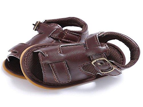 Suaves marrón del del de 18meses Manera Sandalias bebé de 0 Verano la Koly Cuero 1qAtaTnwO