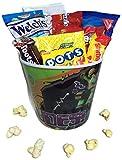 Kids Mini Movie Night Gift Basket ~ Includes Popcorn, Cookies and Candy in a Character Bucket (Teenage Mutant Ninja Turtle)