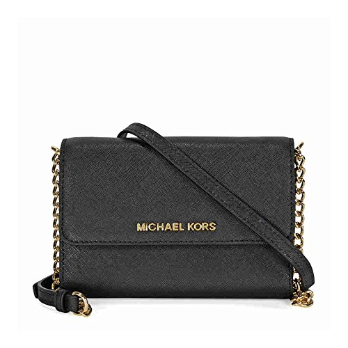 MICHAEL Michael Kors Women's Jet Set Large Phone Cross Body Bag, Black, One Size by MICHAEL Michael Kors
