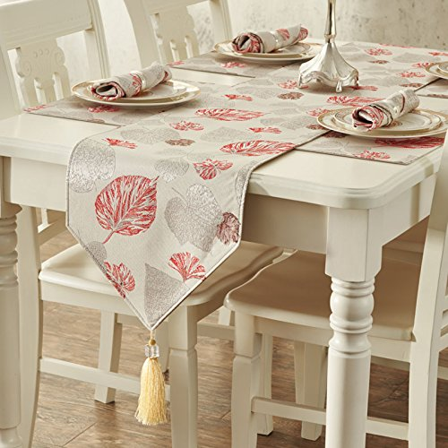 European luxury geometric pattern cloth table runner table cloth fashion Contemporary minimalist padded waterproof mat , red , 35183cm Christmas Halloween decorations-YU&XIN ()