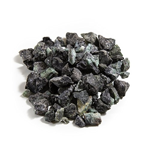 1 lb Bulk Small Emerald Rough Stones - Natural Raw Stones Mix & Fountain Rocks for Tumbling, Cabbing, Polishing, Wire Wrapping, Wicca & Reiki Crystal Healing